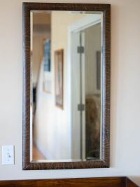 Antique Tiger Wood Mirror