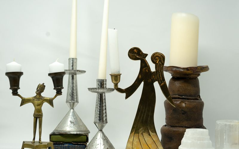 Eclectic Candle holders